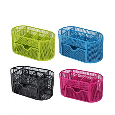 Multifunctional storage pen holder storage grid mesh office practical